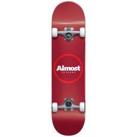"""ALMOST Red ringer 7.25"""" Youth FP Complete Skateboard red"""