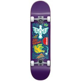 "ALMOST Sky Doodles Skateistan 7.875"" FP Complete Skateboard purple"