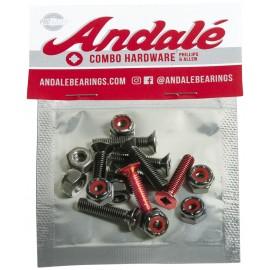 """ANDALE mount set 7/8"""" combo Kreuz-allen - Red"""