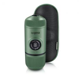 WACACO Nanopresso Espressomaschine Elements Moss green inklusive Schutzhülle